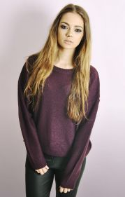 Boxy Jumper In Aubergine